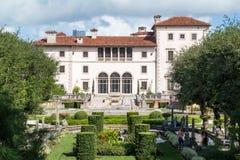 Villa Vizcaya à Miami, la Floride Images libres de droits