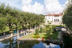 Villa Vizcaya à Miami, la Floride Image libre de droits