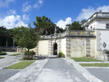 Villa Vizcaya, Miami. The courtyard of the Villa Vizcaya, Miami, USA. Villa Vizcaya is the former villa and estate of businessman James Deering, built in Coconut Royalty Free Stock Image