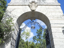 Villa Vizcaya, Miami. The courtyard of the Villa Vizcaya, Miami, USA. Villa Vizcaya is the former villa and estate of businessman James Deering, built in Coconut Stock Images