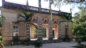 Villa Vizcaya, Miami. The courtyard of the Villa Vizcaya, Miami, USA. Villa Vizcaya is the former villa and estate of businessman James Deering, built in Coconut Royalty Free Stock Photos