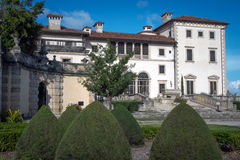 Villa Vizcaya in Miami, Florida. Vizcaya Museum and Gardens, is the former villa and estate of businessman James Deering, on Biscayne Bay in the present day Stock Image