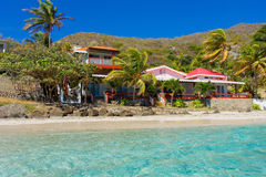 A villa on the waterfront in the windward islands royalty free stock image