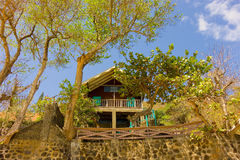 A villa on the waterfront in the windward islands Royalty Free Stock Photography
