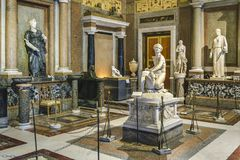 VillaBorghese galleri royaltyfri bild