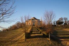 Villacapraen `-LaRotonda som ` planlade vid Palladio, fotograferade i ottaljuset Arkivfoton