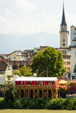 Villach City at Kirchtag Stock Image