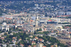 Villach seen from the Dobrac mountain, Austria Royalty Free Stock Photography