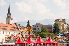 Villach-Stadt bei Kirchtag stockfoto
