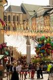 Villach-Stadt bei Kirchtag stockbild