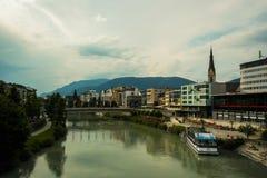 Villach-Stadt scape stockfoto