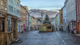 VILLACO, AUSTRIA, vie della parte centrale della città sull' Fotografie Stock Libere da Diritti