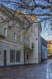 VILLACO, AUSTRIA, vie della parte centrale della città sull' Fotografie Stock