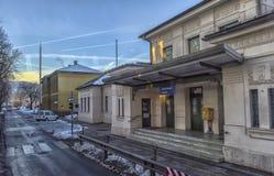 VILLACO, AUSTRIA, vie della parte centrale della città sull' Fotografia Stock