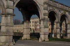 VillaContarini panoramautsikt av en forntida villa av Andrea Pal Royaltyfria Foton