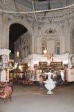Villacrosse passage, Bucharest, at night Royalty Free Stock Photo