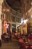 Villacrosse passage, Bucharest, at night Royalty Free Stock Photos
