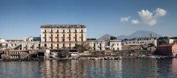 Villad'Elboeuf, porto del Granatello Portici Fotografering för Bildbyråer