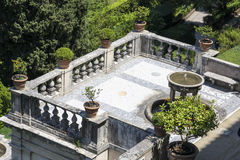 Villad'Este i Tivoli, Italien arkivbild