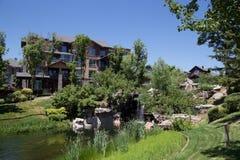 Villadom. Community, afforest, clean and high grade community. life style, garden, senery Stock Photo