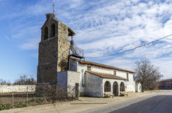 Villafale parish church in the municipality of Villasabariego Royalty Free Stock Photography