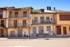 Villafranca del Bierzo老房子  免版税库存照片