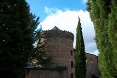 Villafranca del Bierzo LeA? ³ n西班牙城堡  免版税库存照片