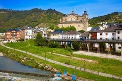 Villafranca del Bierzo by Way of Saint James Leon. Villafranca del Bierzo by Way of Saint James Burbia river in Leon Spain stock images