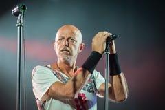 Villafranca di Verona, Italy on July 23, 2015. Negrita play live Stock Photo
