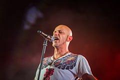 Villafranca di Verona, Italy on July 23, 2015. Negrita play live Royalty Free Stock Photo