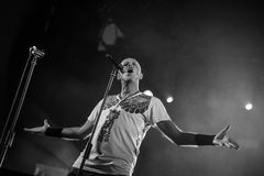 Villafranca di Verona, Italy on July 23, 2015. Negrita play live Royalty Free Stock Image