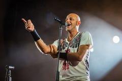 Villafranca di Verona, Italy on July 23, 2015. Negrita play live Royalty Free Stock Images
