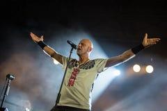 Villafranca di Verona, Italy on July 23, 2015. Negrita play live Stock Photography