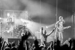 Villafranca di Verona, Italy on July 23, 2015. Negrita play live Stock Images