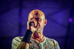 Villafranca di Verona, Italy on July 23, 2015. Negrita play live Stock Image