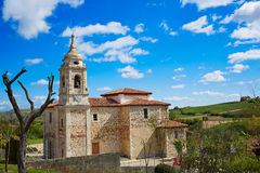Villafranca Montes de Oca Way von St James Stockfotografie