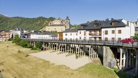 Villafranca, visión urbana, España. Fotos de archivo libres de regalías