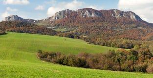 Villag di Vrsatecke e di Vrsatec Podhradie - Slovacchia fotografia stock