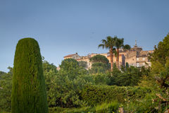 Villag of Mougins Provence. Panoramic view of Mougins nested on the hills of south of France Royalty Free Stock Image