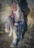 Leprous dressed in rags during a historical re-enactment in the Royalty Free Stock Photos