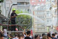 Traditional Water Festival in Villagarcia de Arousa Stock Photos