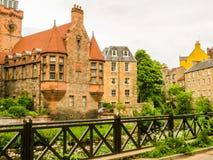 Village,爱丁堡市和旅游胜地的中世纪村庄教务长 爱丁堡,苏格兰,英国 图库摄影