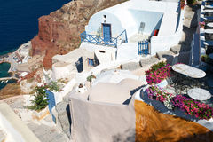 Village à Oia, Santorini Photo libre de droits