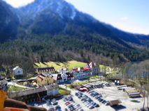 Village élégant de Hoheschwangau Photo stock