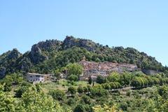 Village été perché de St Agnès. Photos libres de droits