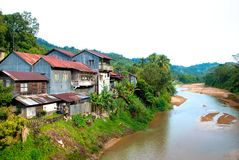 Village 01 de fleuve Image stock