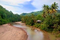 Village 03 de fleuve Photographie stock libre de droits