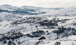 Village. View over a little village in the winter Royalty Free Stock Photography