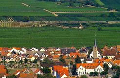 Village. Vinery village in fields of Germany Royalty Free Stock Images
