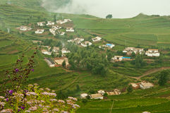 Village. The view of the village on plateau  mountain Stock Images